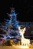 Illuminated christmas tree Royalty Free Stock Photos