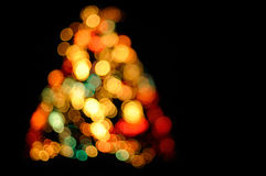 Illuminated christmas tree Stock Photography