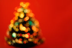 Illuminated christmas tree Stock Image