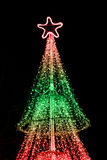 Illuminated Christmas tree Stock Photos
