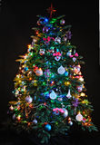 Illuminated Christmas tree Royalty Free Stock Photography
