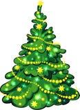 Illuminated Christmas Tree isolated Royalty Free Stock Images