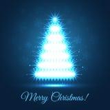 Illuminated Christmas Tree Royalty Free Stock Photo