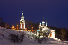 Illuminated church Royalty Free Stock Images