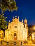 Illuminated church of Castelletto Royalty Free Stock Photography