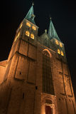 Illuminated church of the city of Deventer in the center of the Netherlands because of a special Charles Dickens weekend Stock Images