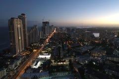 Illuminated city at night Royalty Free Stock Photo