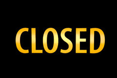 Illuminated Closed Sign Stock Photography