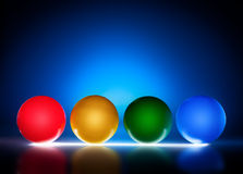 Illuminated color plastic balls Royalty Free Stock Photo