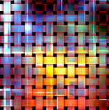 Illuminated colorful background. With black squares. Background and texture vector illustration