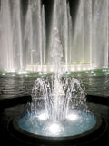 Illuminated colorful fountains Stock Photos