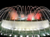 Illuminated colorful fountains Royalty Free Stock Image