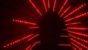 Illuminated colorful tunnel stock footage