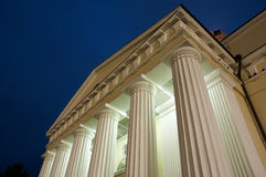 Illuminated columns Stock Photos