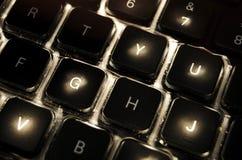 Illuminated Computer Keyboard Royalty Free Stock Images