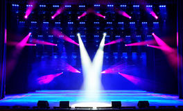 Illuminated concert stage royalty free stock photo
