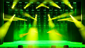 Illuminated concert stage Royalty Free Stock Photography
