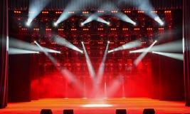 Illuminated concert stage Stock Photo