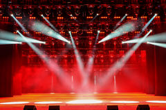 Illuminated concert stage Royalty Free Stock Photos