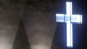 Illuminated cross Stock Images