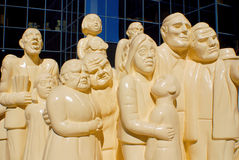The Illuminated Crowd Stock Image