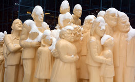 The `Illuminated Crowd` Stock Image