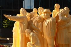Illuminated Crowd Sculpture, Montreal, Quebec Stock Photography