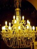 Illuminated crystal chandelier Royalty Free Stock Image