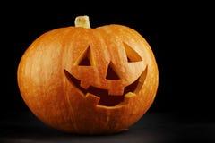 Illuminated cute halloween pumpkin Royalty Free Stock Photo