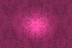 Illuminated Damask Design Royalty Free Stock Photography