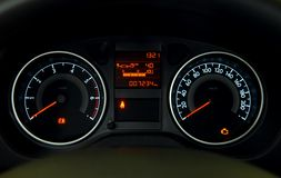 Illuminated dashboard Royalty Free Stock Image