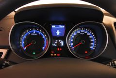 Illuminated dashboard Royalty Free Stock Photos