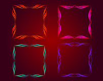 Illuminated decorative frame Stock Image