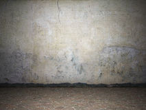Illuminated dirty grunge wall. 3d illustration Royalty Free Stock Photography