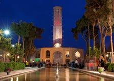 Illuminated Dolat Abad Pavilion at Night stock photography