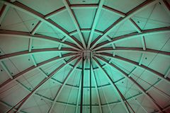 Illuminated dome of the Basketball Hall of Fame in Springfield Massachusetts. A picture of an illuminated dome of the Basketball Hall of Fame in Springfield royalty free stock photo