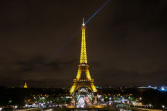 The illuminated Eiffel Tower royalty free stock images