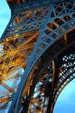 Illuminated Eiffel tower royalty free stock photos