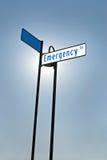 Illuminated Emergency Sign Royalty Free Stock Images