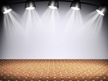 Illuminated empty concert stage Royalty Free Stock Photo