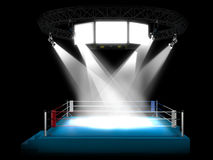 Illuminated empty stage podium Stock Images