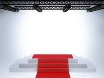 Illuminated empty stage podium Royalty Free Stock Images