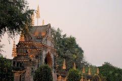 Illuminated Entrance to Royal Palace, Lopburi Royalty Free Stock Photo