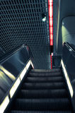 Escalator. Illuminated escalator in los angeles metro station Royalty Free Stock Photo
