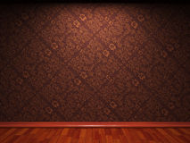 Illuminated fabric wallpaper Stock Photo