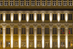 Illuminated facade in Munich, Germany Royalty Free Stock Images