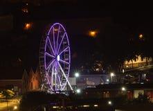 Illuminated Ferris Wheel at Night royalty free stock image