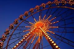 Illuminated ferris wheel Royalty Free Stock Photos