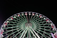Illuminated ferris wheel Stock Images