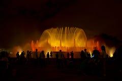 Illuminated fountain in Barcelona, fontana magica Stock Photography